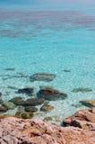 Blue lagoon paradise Stock Photography