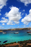 Blue Lagoon. This is a photo of blue sea and sky, Blue Lagoon, Malta royalty free stock image