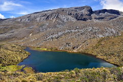 The blue lagoon. Lagoon in PNN El Cocuy Colombia Stock Photo