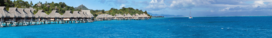 Blue lagoon. Polynesia, panorama Royalty Free Stock Photo