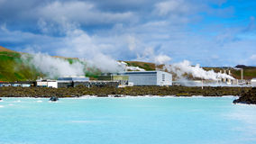 Blue Lagoon and Power Station Stock Images