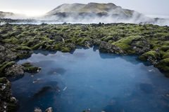 Blue Lagoon. Scenery from the Blue Lagoon in Iceland Stock Photography