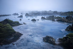 Blue Lagoon. Scenery from the Blue Lagoon in Iceland Stock Photo