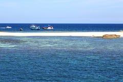 blue lagoon  stone in thailand kho tao bay abstract boat Stock Photography