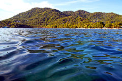 blue lagoon  stone in thailand kho tao  of a  water   south chi Royalty Free Stock Images