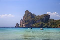 Blue lagoon in Thailand Stock Photography
