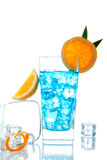Blue Lagoon tropical cocktail Stock Photography