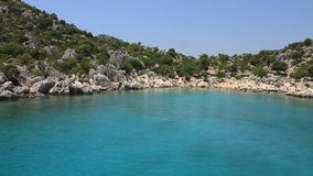 Blue lagoon. Turkey Kekova-Simena Region, Western Taurus stock video