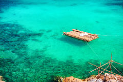 Blue lagoon with turquoise sea water Stock Images