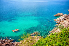 Blue lagoon with turquoise sea water Stock Photography