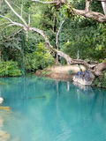 Blue lagoon in Vang Vieng, Laos Royalty Free Stock Photos