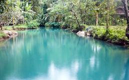 Blue Lagoon in Vang Vieng, Laos Stock Photo