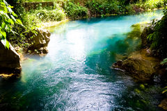 Blue lagoon in Vang Vieng, Laos Royalty Free Stock Image
