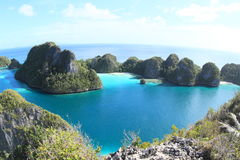 Blue lagoon in Wayag Stock Photos