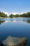 Blue lake. Blue mountain lake in summer Royalty Free Stock Photo
