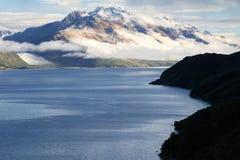 Blue Lake. Wonderful blue lake in front of New Zealand mountains Royalty Free Stock Image