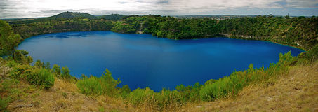 Blue Lake. In Mount Gambier, South Australia Royalty Free Stock Images