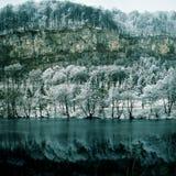 Blue lake. Landscape nature.Blue lake.Winter.Caucasus.Russia Stock Photos