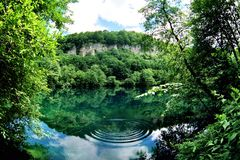 Blue lake. Landscape nature.Caucasus.Russia Royalty Free Stock Photos