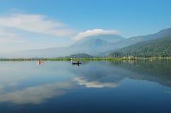 Blue Lake. Beautiful Rawa Pening Lake in Central Java Royalty Free Stock Photo