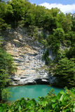 Blue lake, Abkhazia Stock Photo