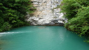Blue lake in Abkhazia Royalty Free Stock Images