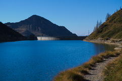 Blue Lake in the Alps Royalty Free Stock Photography