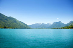 Blue lake Annecy Stock Image