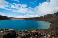 Blue Lake. As seen from Tongariro crossing, and its pristine waters Royalty Free Stock Photography