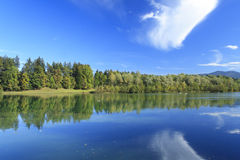 Blue lake in autumn Royalty Free Stock Images