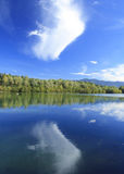 Blue lake in autumn Royalty Free Stock Photography