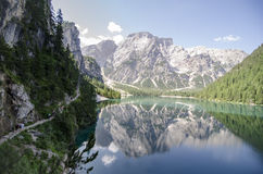 Blue Lake braies Royalty Free Stock Photography