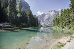 Blue Lake braies Royalty Free Stock Images