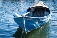 Blue Lake Como Boat Stock Images