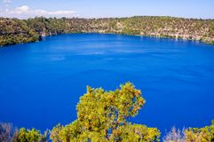 Blue Lake - Mount Gambier. The Blue Lake in a dormant volcanic maar - Mount Gambier, SA, Australia Royalty Free Stock Photography