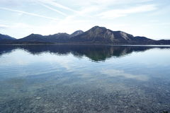 Blue lake in the european alps Royalty Free Stock Photography