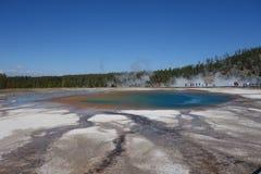 Blue lake, Grand Prismatic Spring. Yellowstone National Park Royalty Free Stock Photo