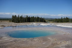 Blue lake, Grand Prismatic Spring Stock Photo