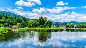 Blue lake. Great summer day in the heart of the world near Brasov Royalty Free Stock Photography