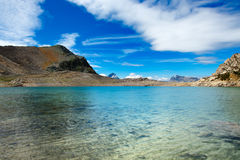 Blue lake of high mountains in the summer Royalty Free Stock Image
