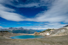 Blue lake of high mountains in the summer. Blue lake of high mountains Royalty Free Stock Photography