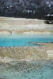 Blue lake in huang long royalty free stock images