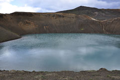Blue lake in Iceland Royalty Free Stock Photography
