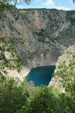 Blue lake Imotski in Croatia. In spring Royalty Free Stock Photos