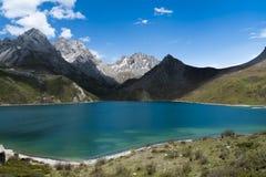 Blue lake inside mountain. A blue lake inside mountain Stock Photo