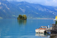Blue lake of Interlaken Royalty Free Stock Images