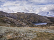 Blue Lake in Kosciuszko NP horizontal Stock Photography
