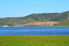 Blue lake landscape Stock Images