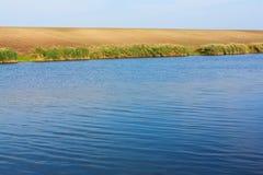 Blue lake landscape Royalty Free Stock Photos