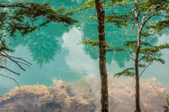 Blue lake. Blue lake located in Rudawski Landscape Park. Country: Poland, Region: Lower Silesia Royalty Free Stock Images
